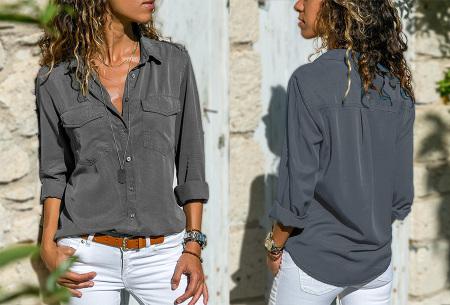 Casual dames blouse | Nu verkrijgbaar in maar liefst 9 kleuren Grijs