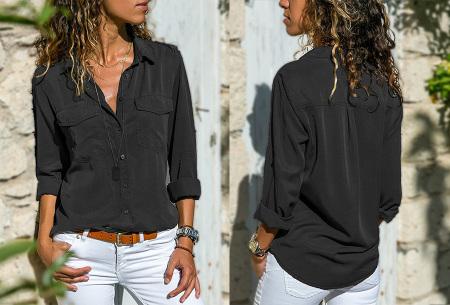 Casual dames blouse | Nu verkrijgbaar in maar liefst 9 kleuren Zwart