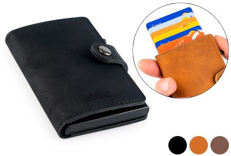 L'Hédoniste mini portemonnee nu in de sale met korting | Leren mini wallet