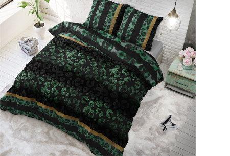 Hotelkwaliteit dekbedovertrekken van Sleeptime | Keuze uit 3 formaten  panther gradient - groen
