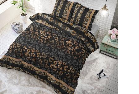 Hotelkwaliteit dekbedovertrekken van Sleeptime | Keuze uit 3 formaten  panther gradient - taupe