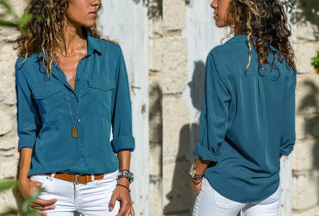 Casual dames blouse | Nu verkrijgbaar in maar liefst 9 kleuren Blauw