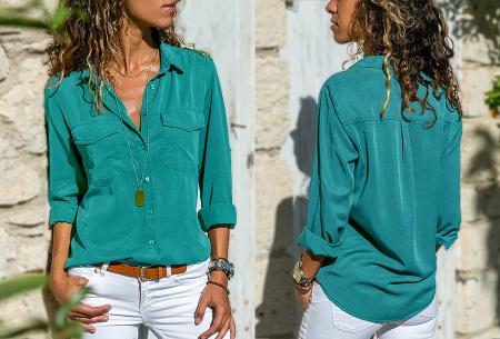 Casual dames blouse | Nu verkrijgbaar in maar liefst 9 kleuren Zeegroen
