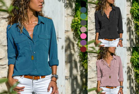 Casual dames blouse | Nu verkrijgbaar in maar liefst 9 kleuren