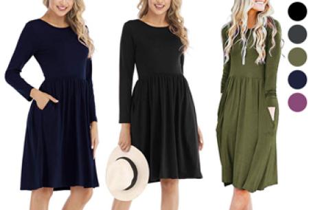 A-lijn jurk nu in de sale met hoge korting