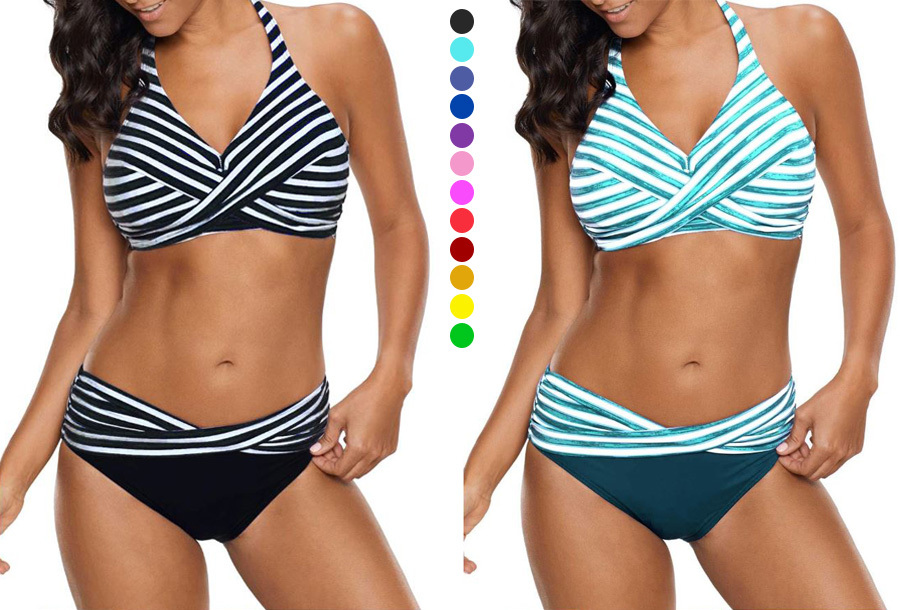 49% korting - Striped bikini <br/>EUR 17.99 <br/> <a href='https://tc.tradetracker.net/?c=24550&m=1018105&a=230468&u=https%3A%2F%2Fwww.vouchervandaag.nl%2Fstriped-bikini-gestreept' target='_blank'>bekijk product</a>