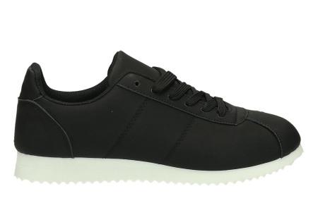 Casual damessneakers | Comfortabele sneakers met een trendy tijdloos design zwart