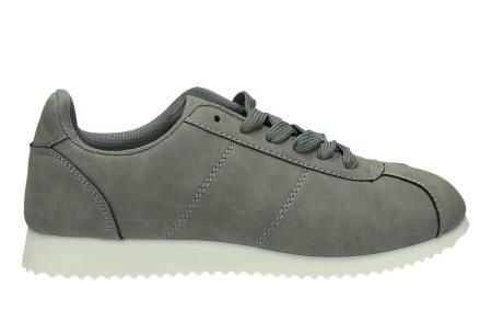 Casual damessneakers | Comfortabele sneakers met een trendy tijdloos design grijs