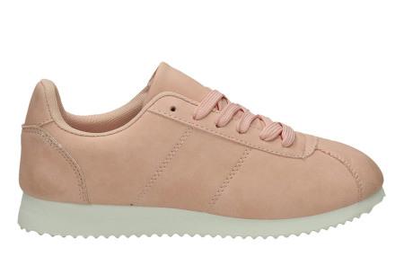 Casual damessneakers | Comfortabele sneakers met een trendy tijdloos design roze