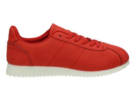 Casual damessneakers | Comfortabele sneakers met een trendy tijdloos design rood