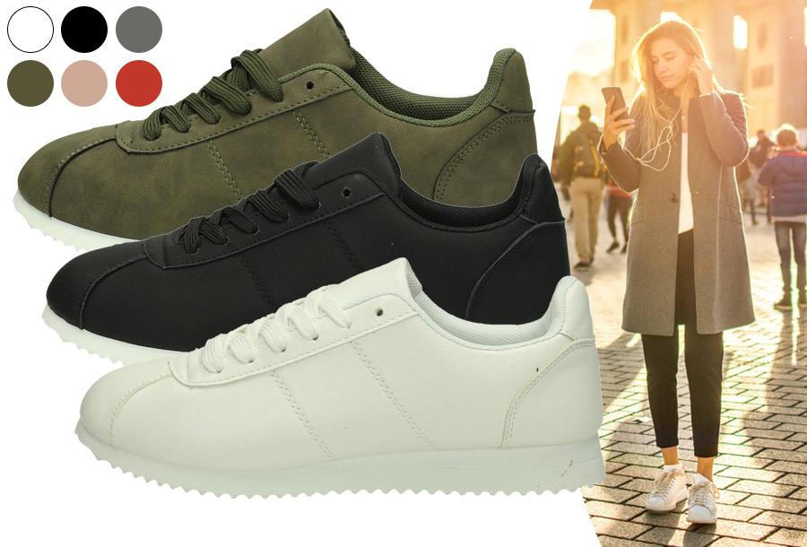 Casual sneakers voor dames nu voor een bodemprijs <br/>EUR 14.99 <br/> <a href='https://tc.tradetracker.net/?c=24550&m=1018105&a=230468&u=https%3A%2F%2Fwww.vouchervandaag.nl%2Fcasual-sneakers-dames-gympen-schoenen' target='_blank'>bekijk product</a>