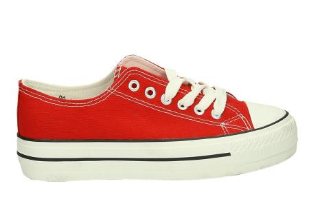 Classic gympen | Klassieke damessneakers - musthave voor je schoenencollectie rood