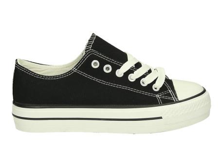 Classic gympen | Klassieke damessneakers - musthave voor je schoenencollectie zwart