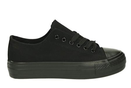Classic gympen | Klassieke damessneakers - musthave voor je schoenencollectie zwart/zwart