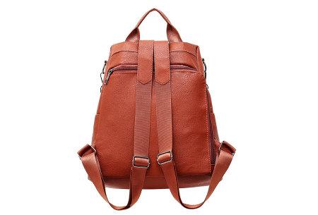 Anti-diefstal rugzak en schoudertas in één | Multifunctionele lederlook tas