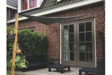 Schaduwdoek - formaat van 3,6 of 5 meter | Creëer een heerlijke schaduwplek in jouw tuin Antraciet