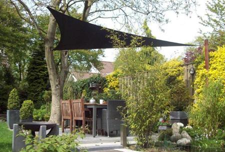 Schaduwdoek - formaat van 3,6 of 5 meter | Creëer een heerlijke schaduwplek in jouw tuin Antraciet - 5 meter