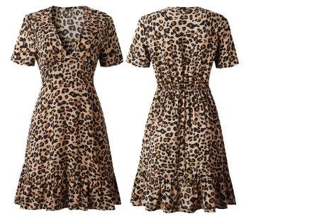 Panterprint jurkje | Musthave jurk voor deze zomer Bruin
