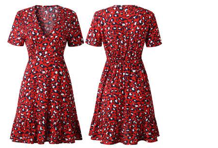 Panterprint jurkje | Musthave jurk voor deze zomer Rood