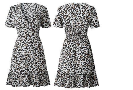 Panterprint jurkje | Musthave jurk voor deze zomer Wit