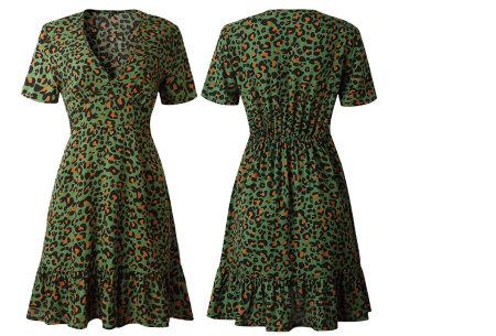 Panterprint jurkje | Musthave jurk voor deze zomer Groen