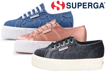 Superga damessneakers nu in de sale met korting
