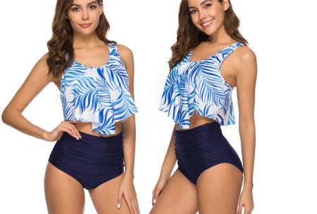 Highwaist bikini in 11 uitvoeringen | Flatterende bikini met hoog broekje en layered top D