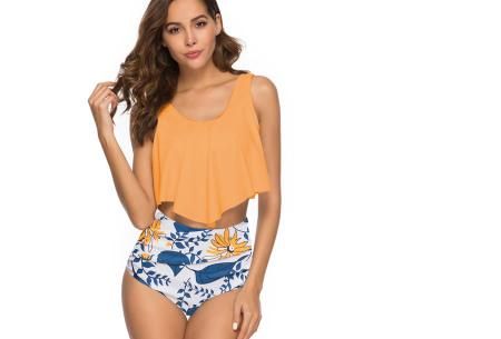 Highwaist bikini in 11 uitvoeringen | Flatterende bikini met hoog broekje en layered top K