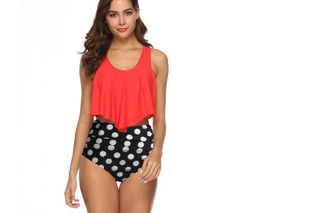 Highwaist bikini in 11 uitvoeringen | Flatterende bikini met hoog broekje en layered top H