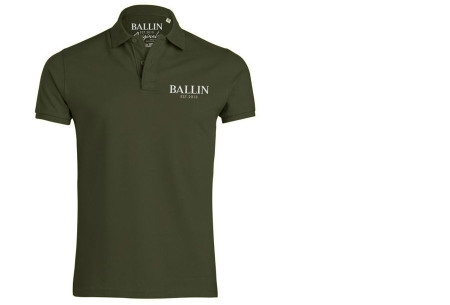 Ballin Est herenpolo's   Topkwaliteit poloshirts van 100% katoen legergroen