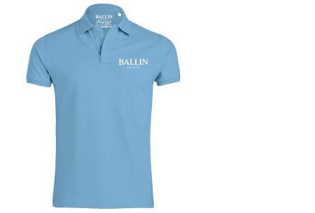 Ballin Est herenpolo's   Topkwaliteit poloshirts van 100% katoen lichtblauw