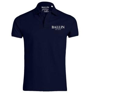 Ballin Est herenpolo's   Topkwaliteit poloshirts van 100% katoen navy