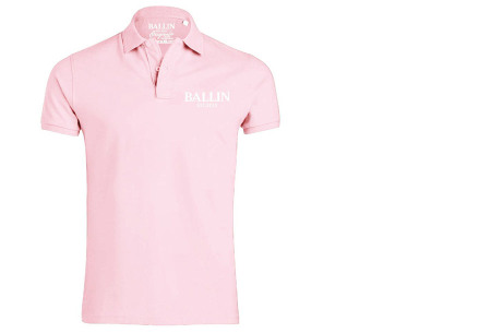 Ballin Est herenpolo's   Topkwaliteit poloshirts van 100% katoen roze