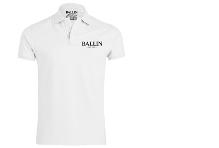 Ballin Est herenpolo's   Topkwaliteit poloshirts van 100% katoen wit