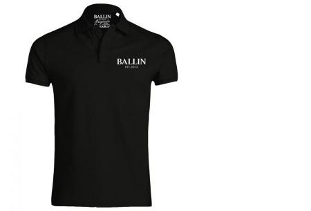 Ballin Est herenpolo's   Topkwaliteit poloshirts van 100% katoen zwart