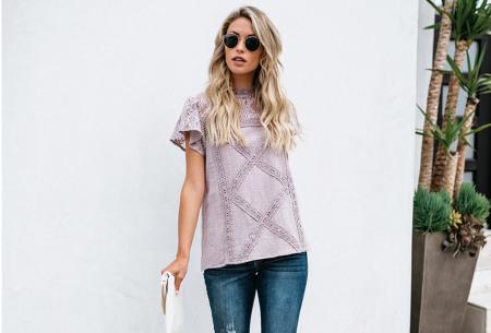 Lace top | Stijlvol damesshirt met kanten details