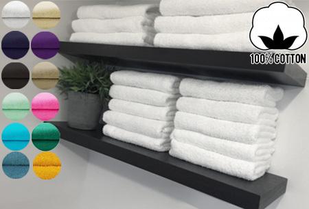 Badhanddoeken en handdoeken hotelkwaliteit - 100% katoen