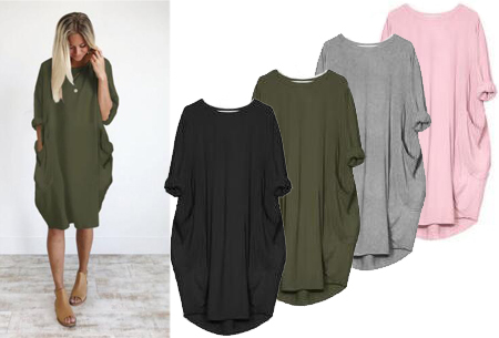 Comfy pocket dress in de sale