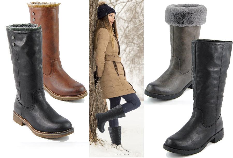 Gevoerde dames laarzen verkrijgbaar in 2 modellen <br/>EUR 24.99 <br/> <a href='https://tc.tradetracker.net/?c=24550&m=1018105&a=230468&u=https%3A%2F%2Fwww.vouchervandaag.nl%2Fgevoerde-dames-laarzen-aanbieding' target='_blank'>bekijk product</a>