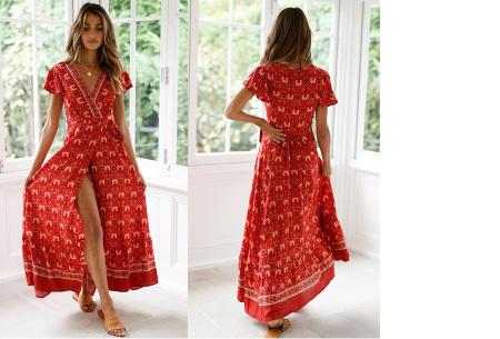 Ibiza maxi jurk | Verkrijgbaar in maar liefst 10 verschillende prints #3 Rood