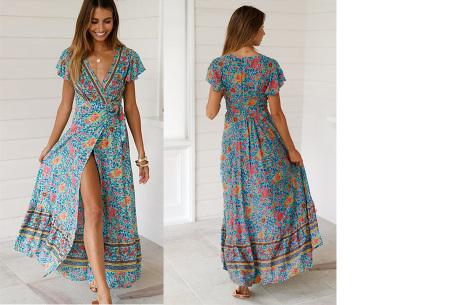 Ibiza maxi jurk | Verkrijgbaar in maar liefst 10 verschillende prints #4 Groen