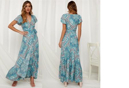 Ibiza maxi jurk | Verkrijgbaar in maar liefst 10 verschillende prints #9 Blauw groen