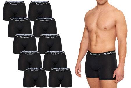 Mario Russo 10-pack katoenen boxershorts - nu in de aanbieding