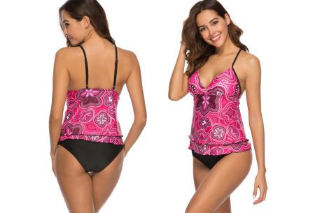 Tankini met zomerse print | De perfecte combi tussen een bikini en een badpak!