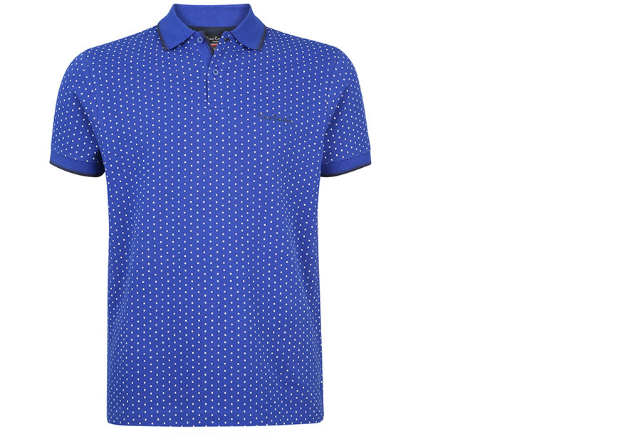 Pierre Cardin Polo FA20801 - FA206708 Maat S - Royal blauw - Model stip