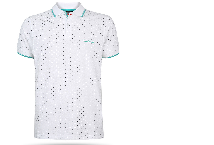 Pierre Cardin Polo FA20801 - FA206708 Maat M - Wit - Model stip