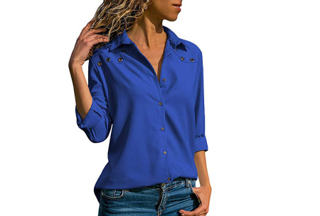 Everyday blouse   Casual blouse voor iedere dag kobaltblauw