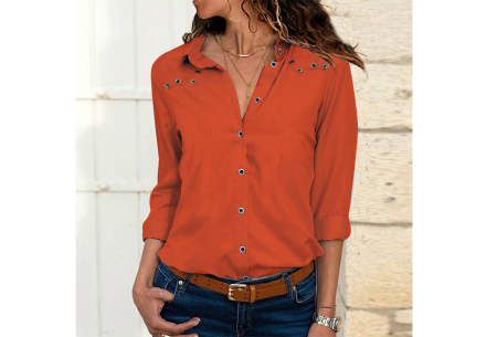 Everyday blouse | Casual blouse voor iedere dag oranje