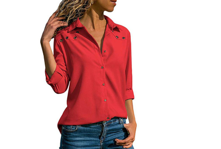 Everyday blouse   Casual blouse voor iedere dag rood