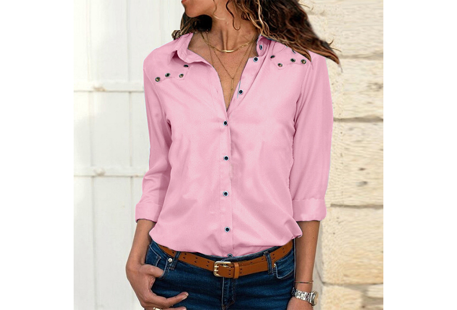 Everyday blouse - Maat S - Roze